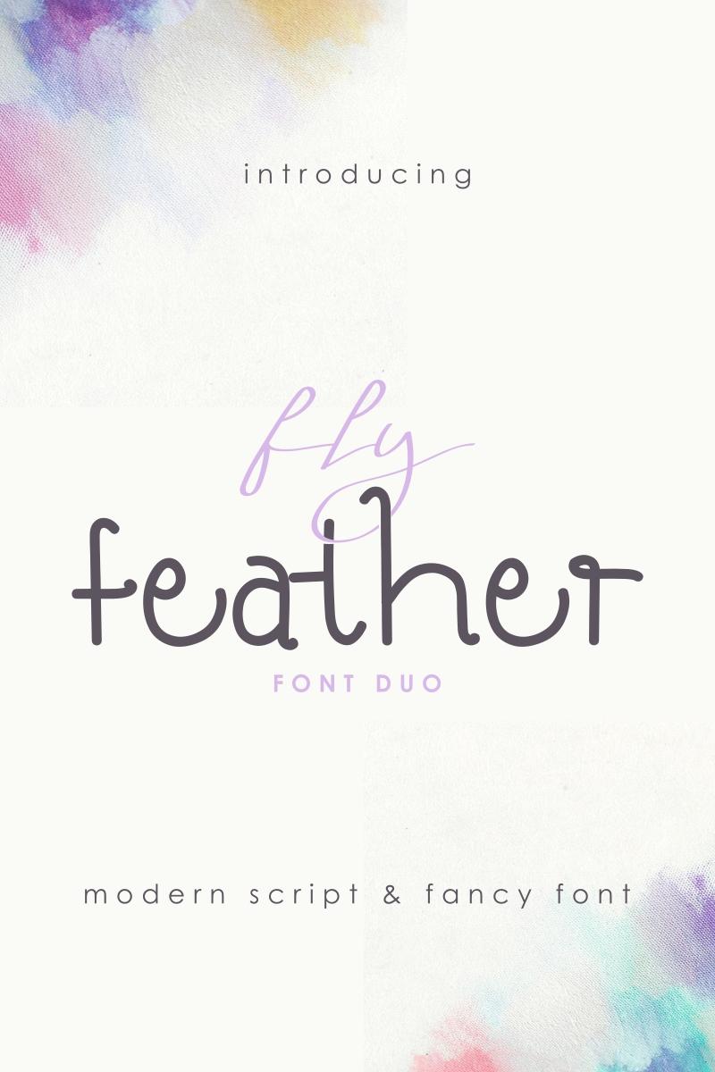 FlyFeather.zip Font - screenshot