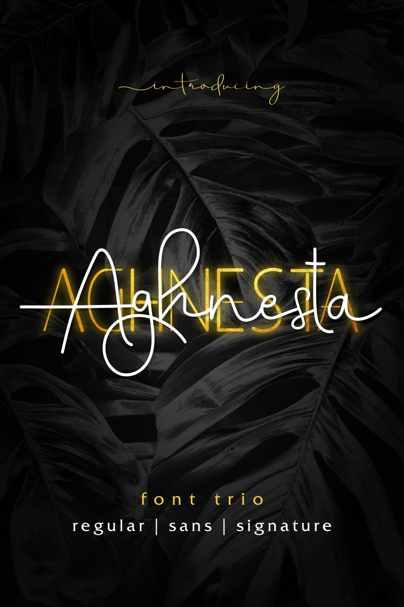 """Fuente """"Aghnesta"""" #95838 - captura de pantalla"""