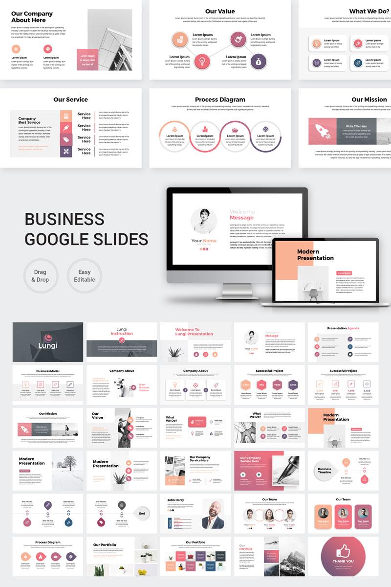 Lungi - Modern Business Presentation Google Slides - screenshot