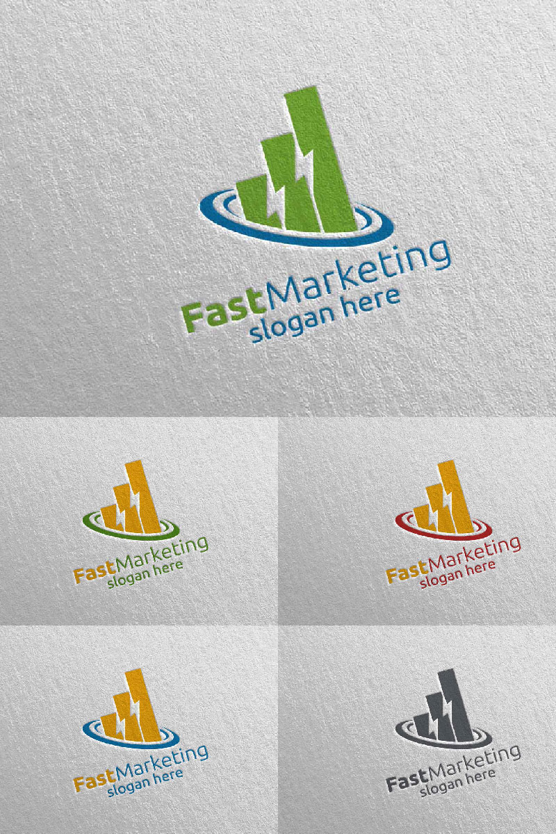 Marketing Financial Advisor Design Icon 1 Logo Template - screenshot