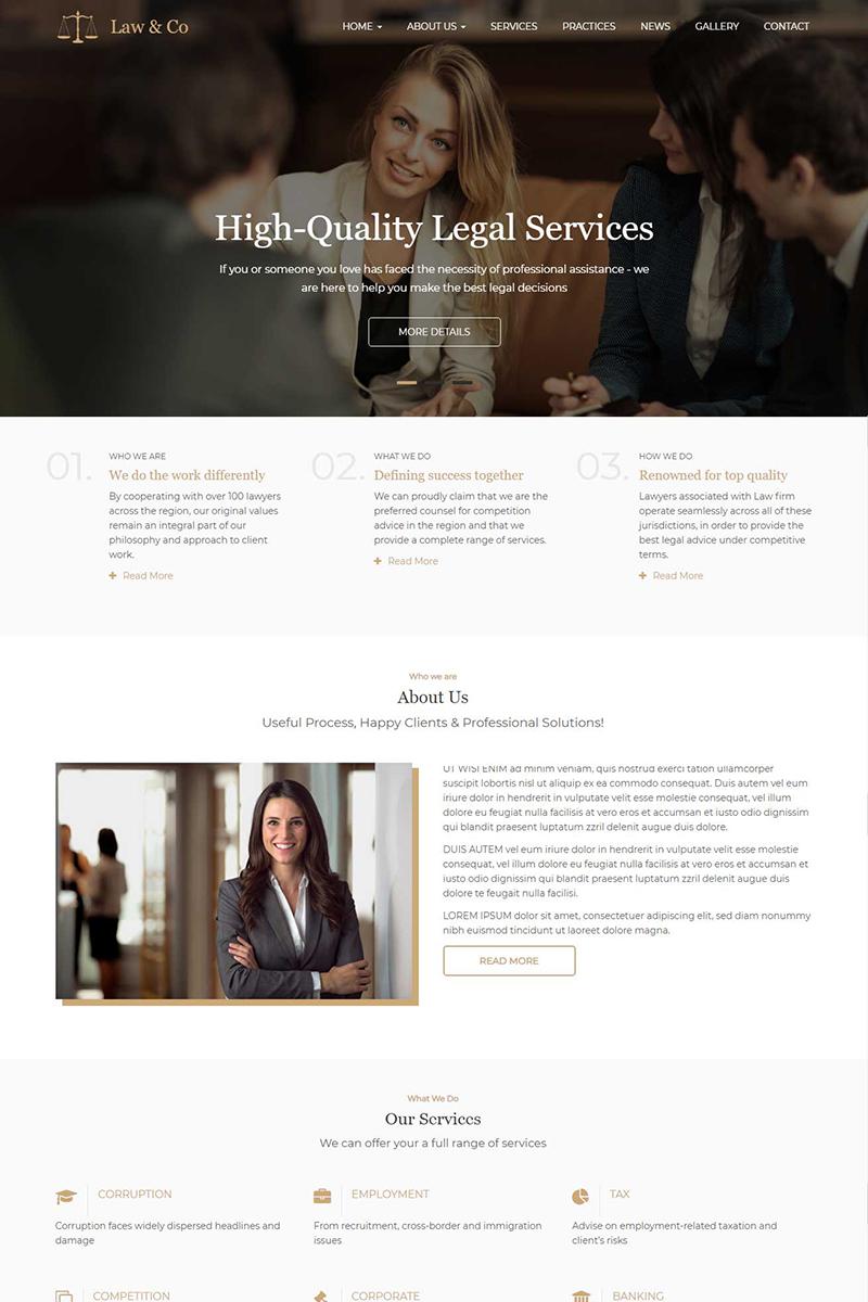 Reszponzív Law & Co - Responsive Drupal sablon 95850