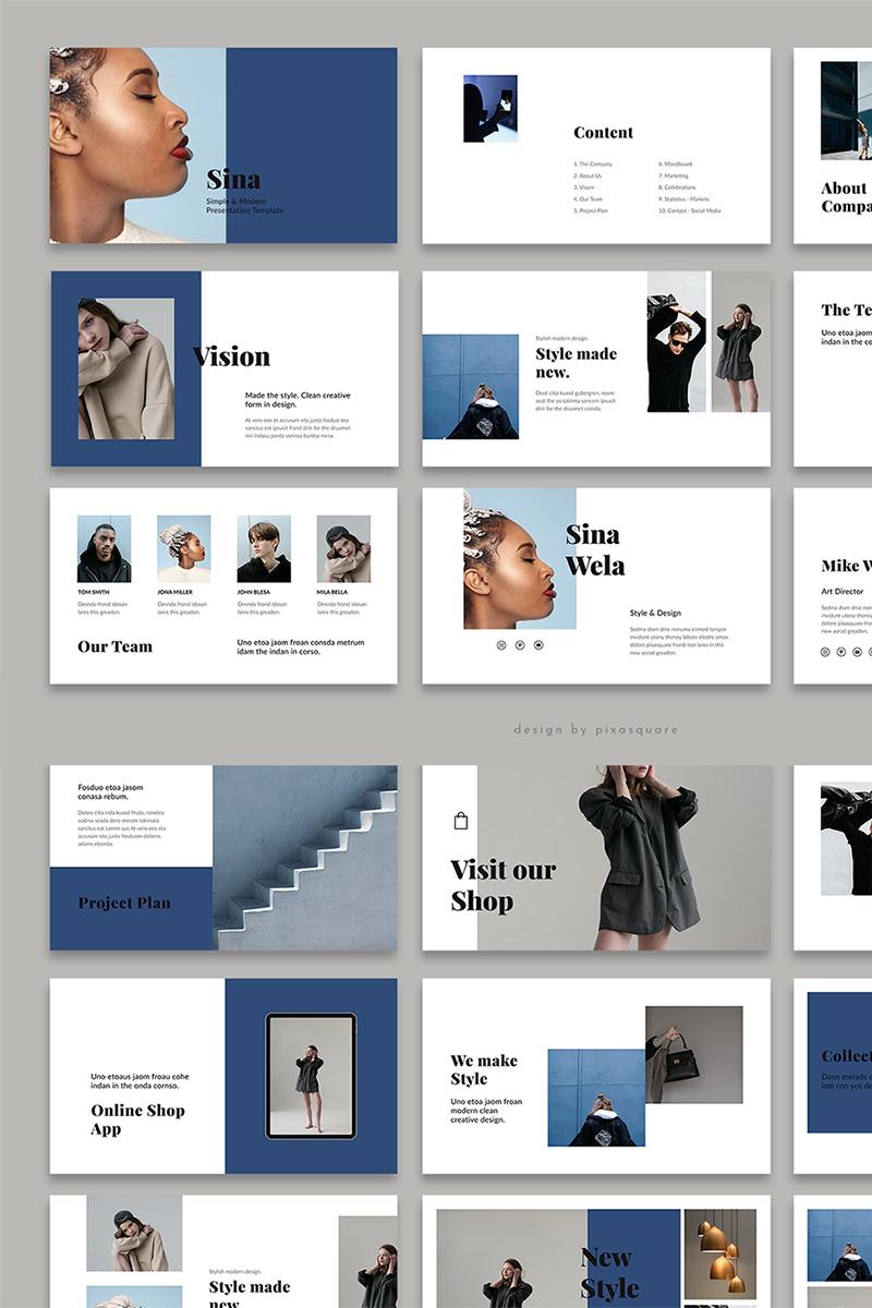 SINA - Style Google Slides - screenshot