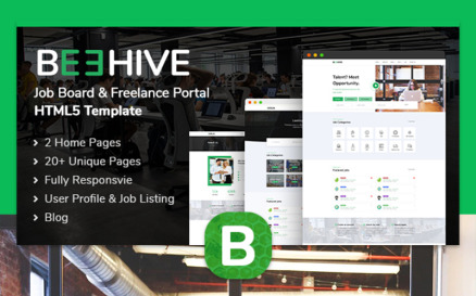 Beehive | Job Listing HTML5 Website Template