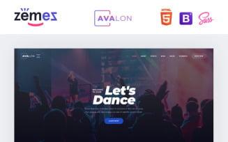 Avalon - Night Club Responsive Website Template