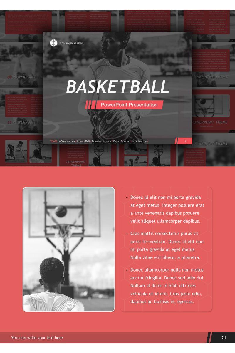 Basketball PowerPoint Template - screenshot