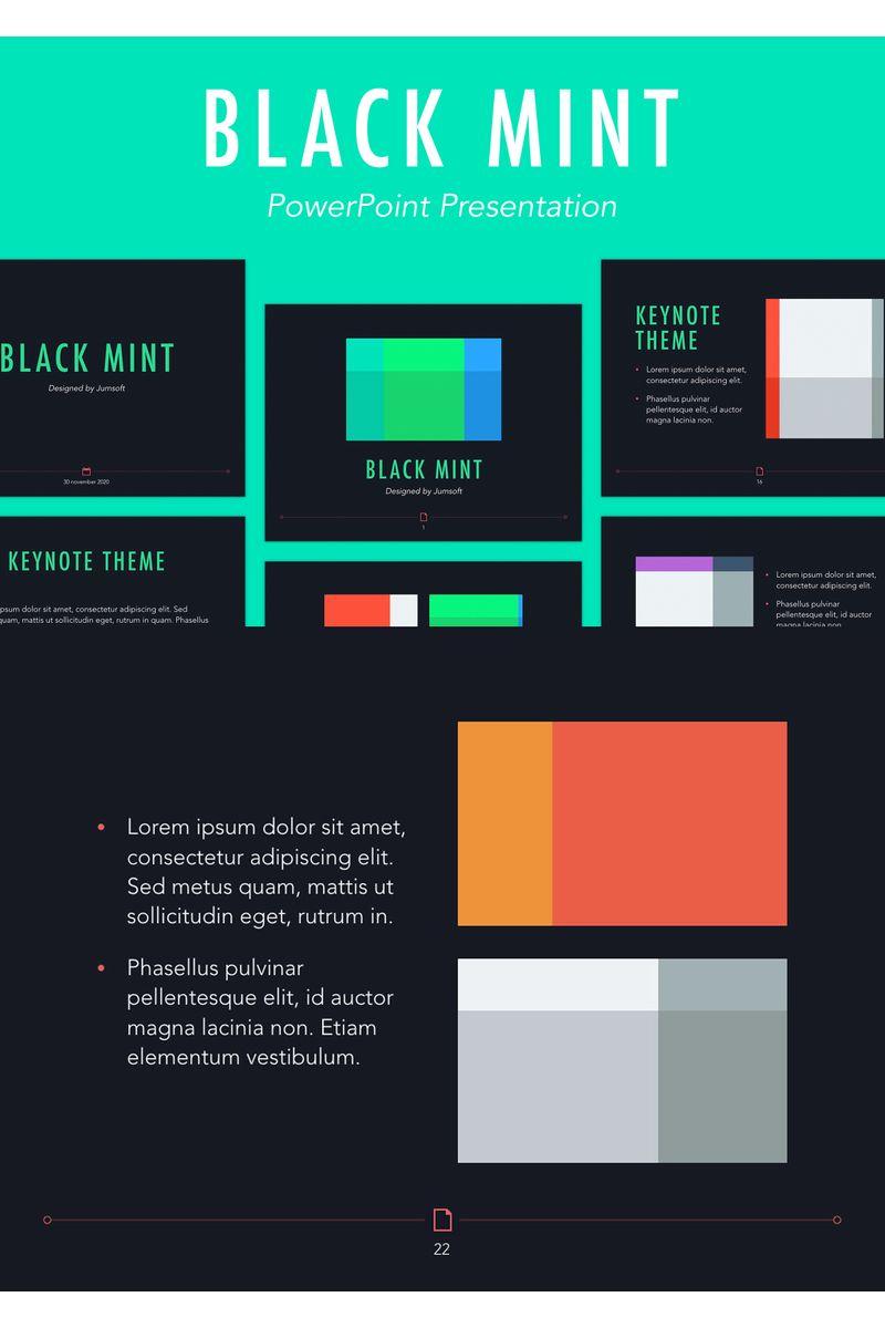 Black Mint PowerPoint Template - screenshot