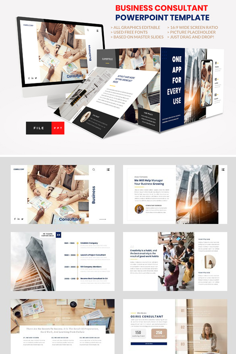 Business - Consultant Finance PowerPoint Template - screenshot