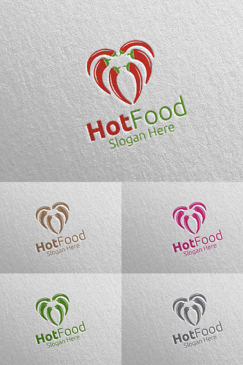 Chili Food for Restaurant or Cafe 97 Logo Template - screenshot