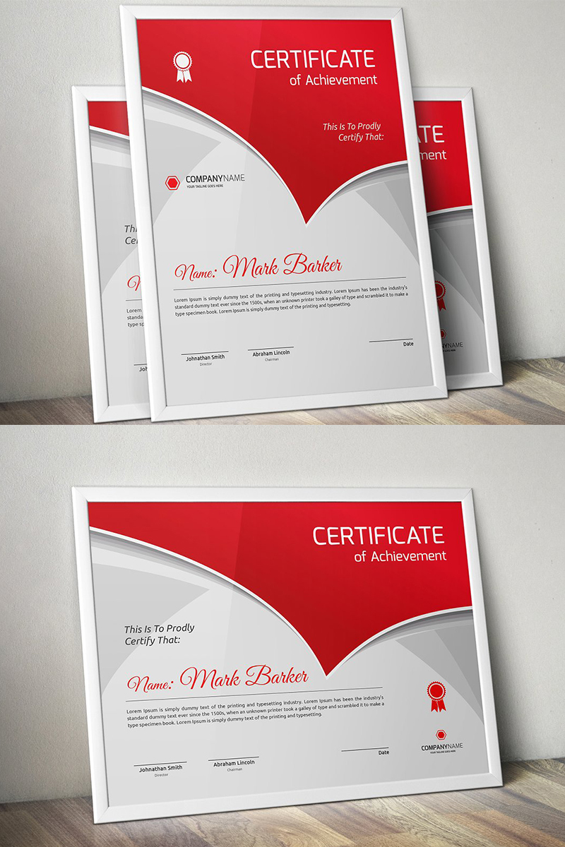 Curvy Modern Certificate Template - screenshot