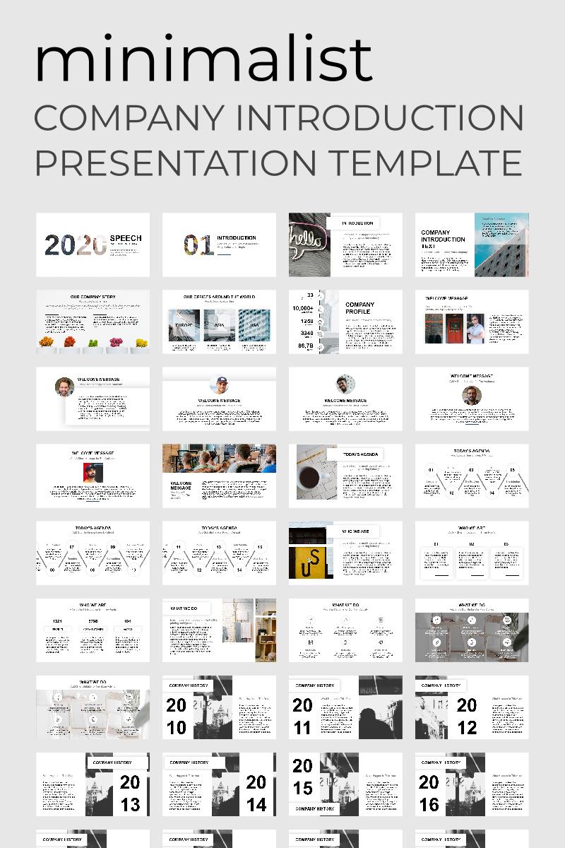 Minimalist Presentation PowerPoint Template - screenshot