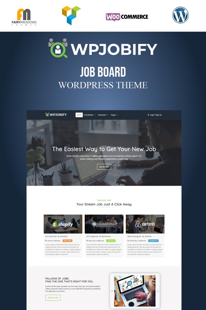 Responsivt WPJobify - Job Board WordPress-tema #95953 - skärmbild