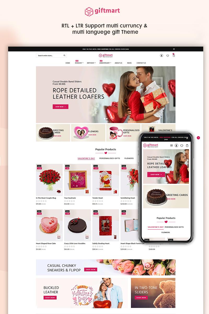 "Shopify Theme namens ""Giftmart - The Gift & Fashion Responsive"" #95907"