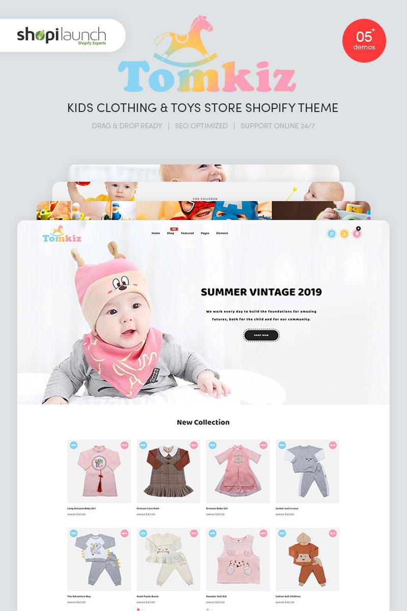 "Shopify Theme namens ""Tomkiz - Kids Clothing & Toys Store"" #95947 - Screenshot"