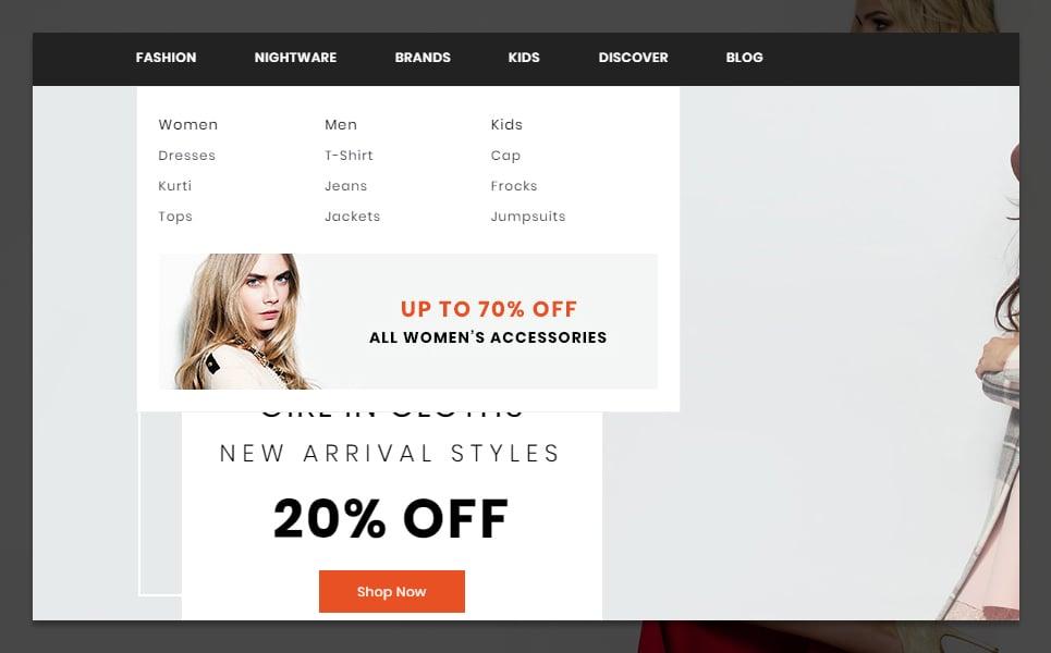 "Tema De PrestaShop ""Mark Fashion and Shoes Store"" #95954 - captura de pantalla"