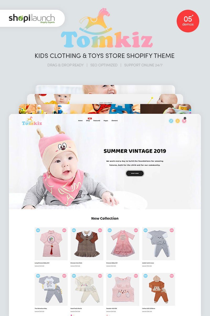 Tomkiz - Kids Clothing & Toys Store Shopify Theme