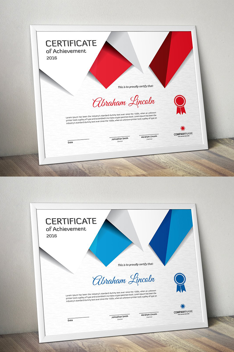 Triangular Certificate Template - screenshot