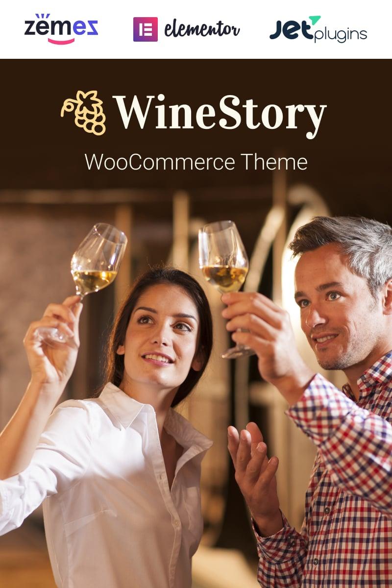WineStory - Genuine And Charming Winery Tema WooCommerce №95958 - screenshot