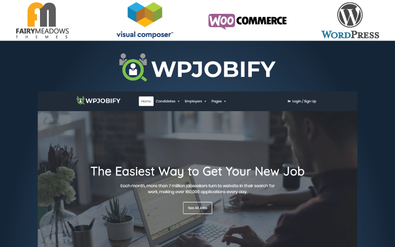 """WPJobify - Job Board"" Responsive WordPress thema №95953"