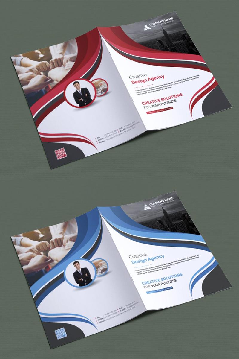 Curvy Bifold Brochure Corporate Identity Template - screenshot