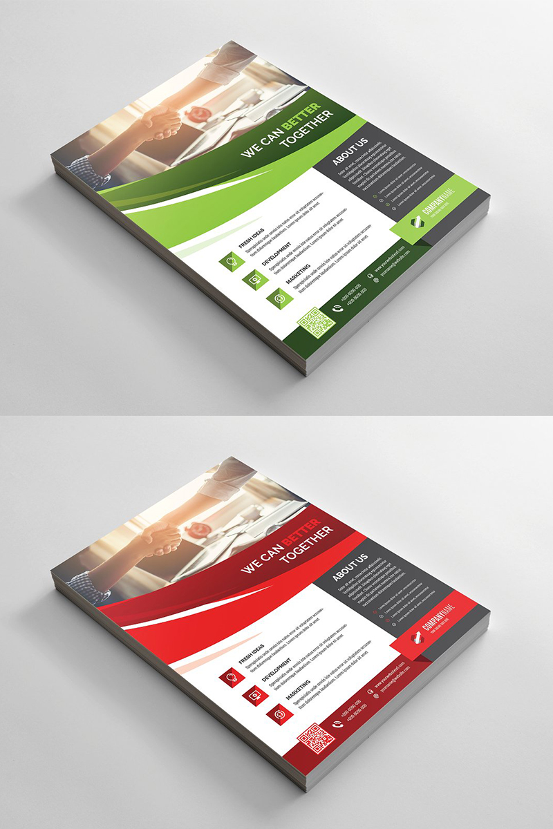 Curvy Flyer Corporate Identity Template - screenshot