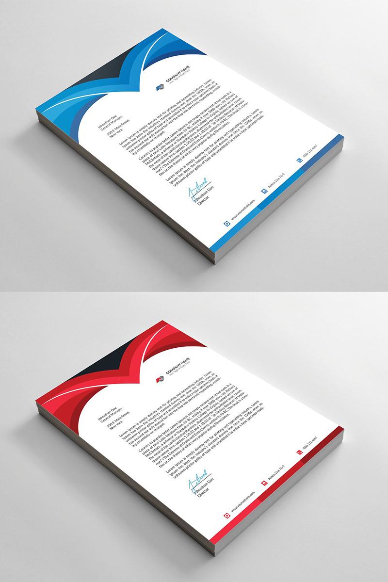Curvy Letterhead Corporate Identity Template - screenshot