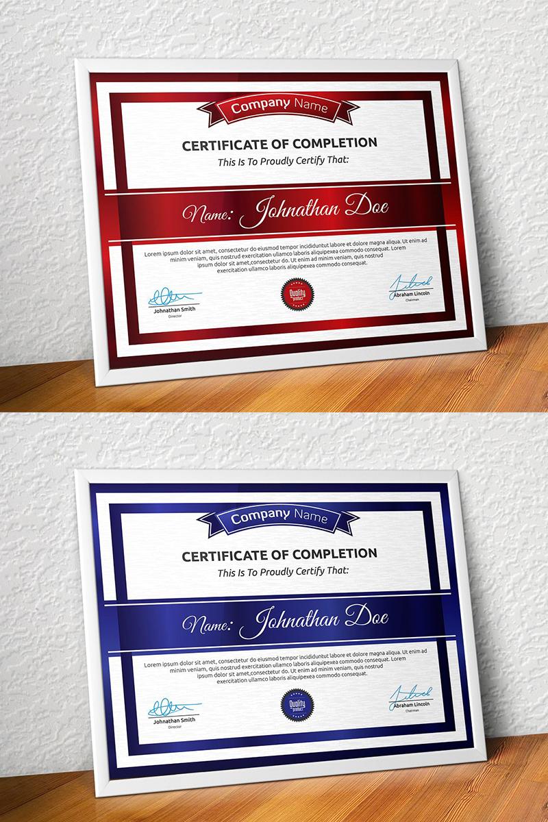 Elegant Retro - Modern Certificate Template
