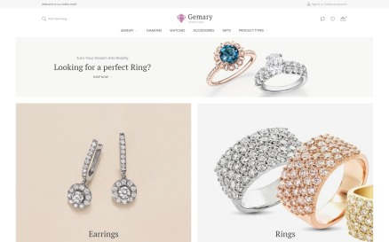 Gemany - Jewel Store Template Magento Theme