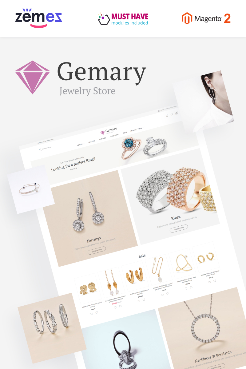 "Magento Theme namens ""Gemany - Jewel Store Template"" #96048"