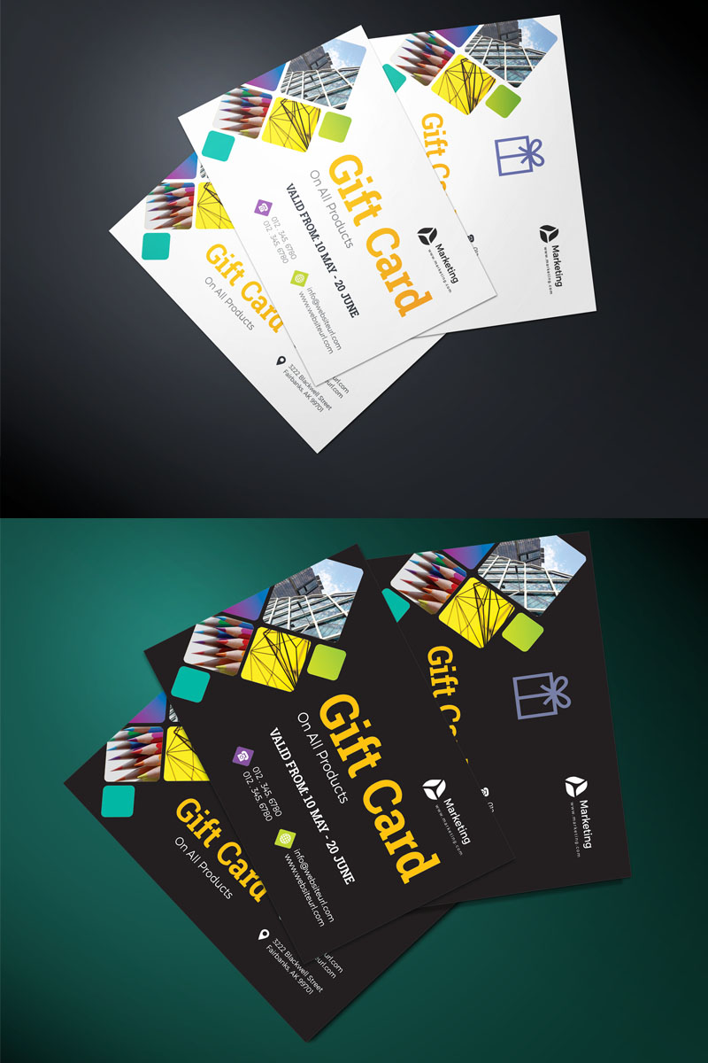 Orange Gift card Corporate Identity Template - screenshot