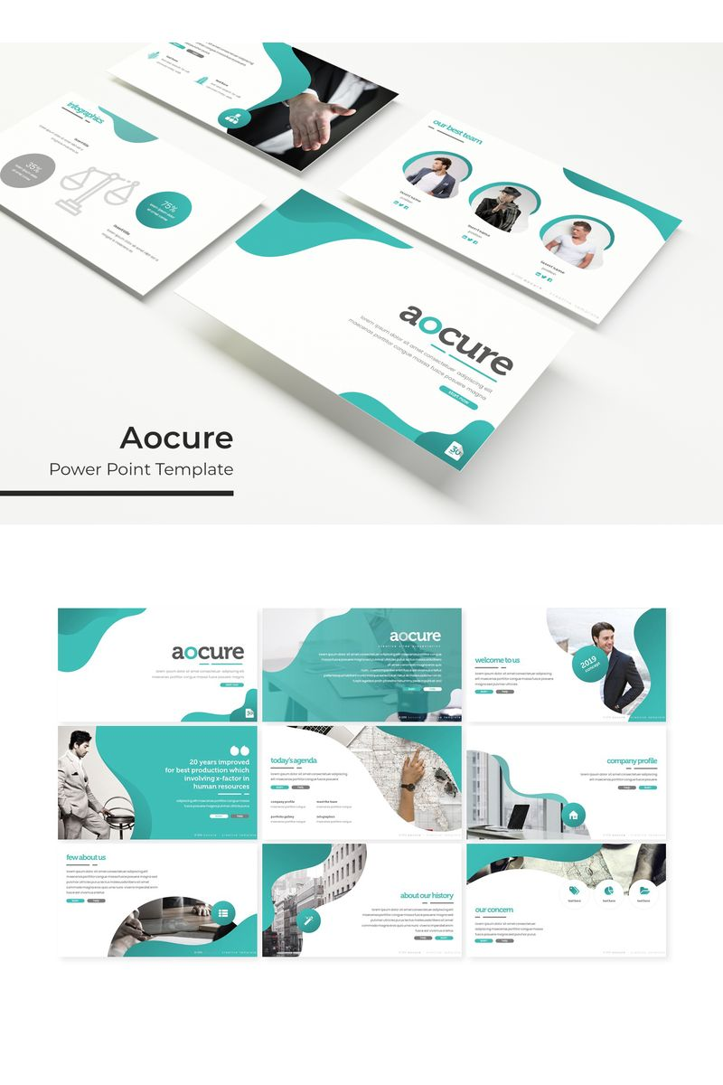 """""""Aocure"""" PowerPoint Template №96168"""