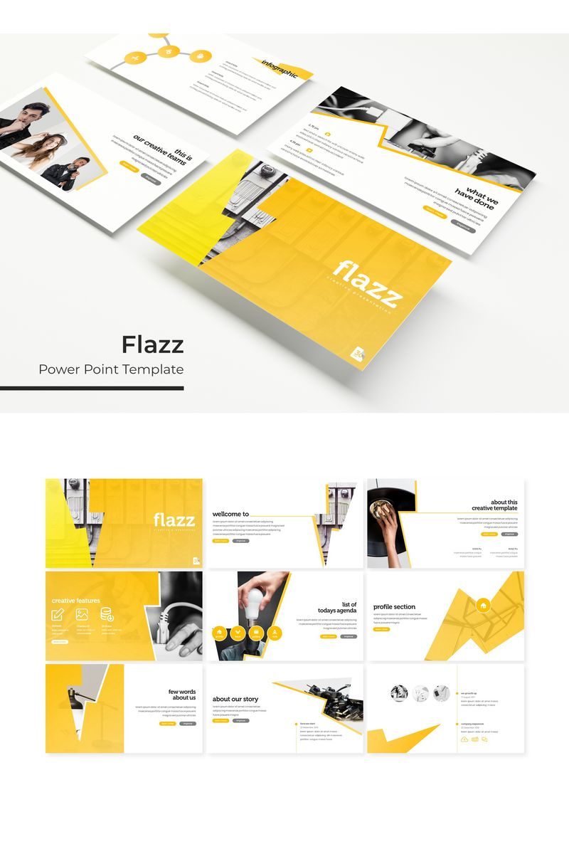 """""""Flazz"""" PowerPoint Template №96167"""