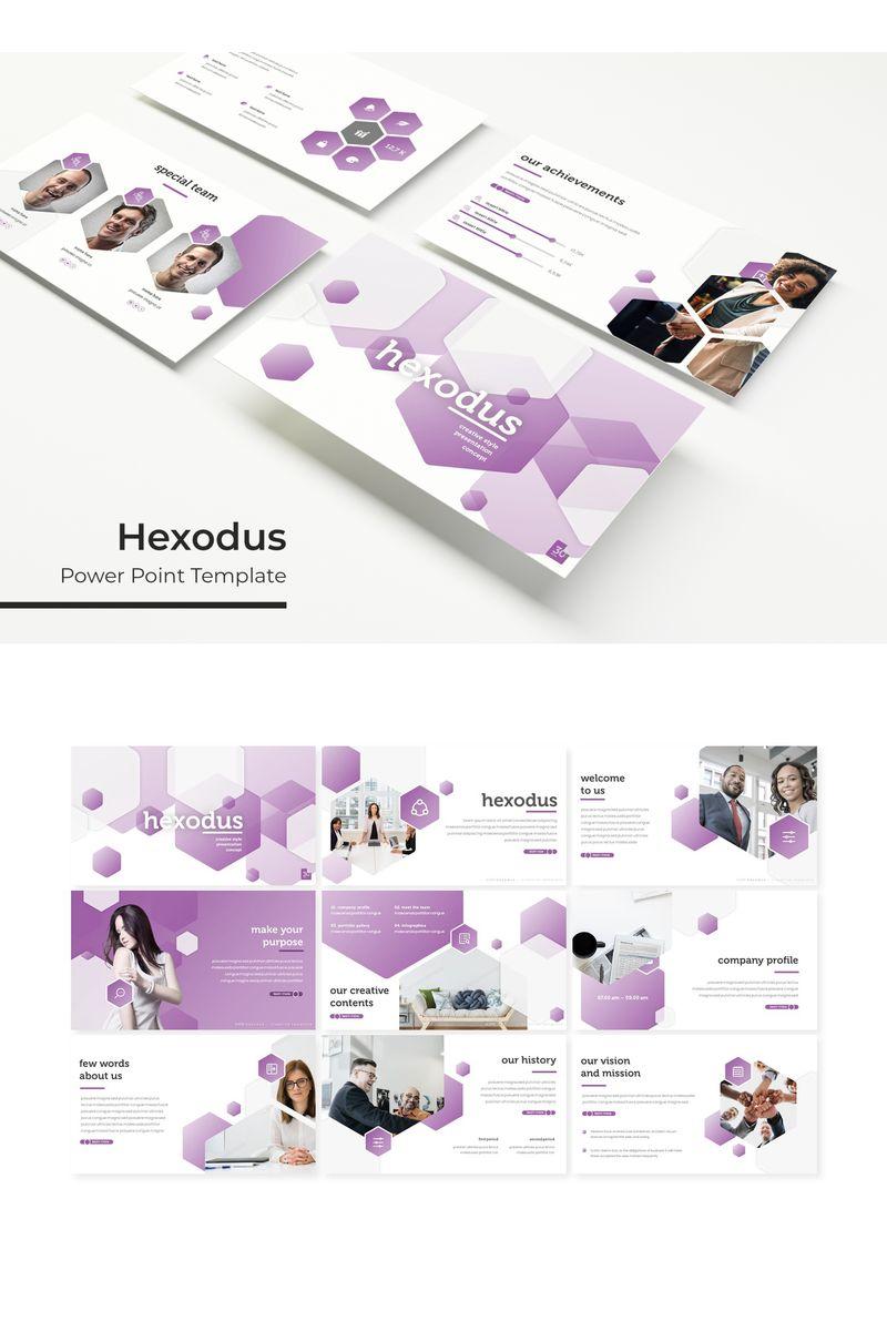 """""""Hexodus"""" PowerPoint Template №96166"""