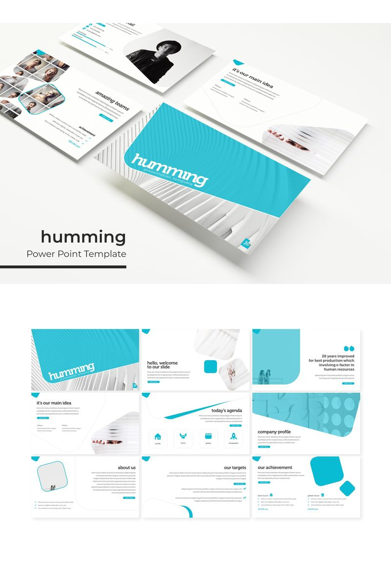 """""""Humming"""" PowerPoint Template №96165"""