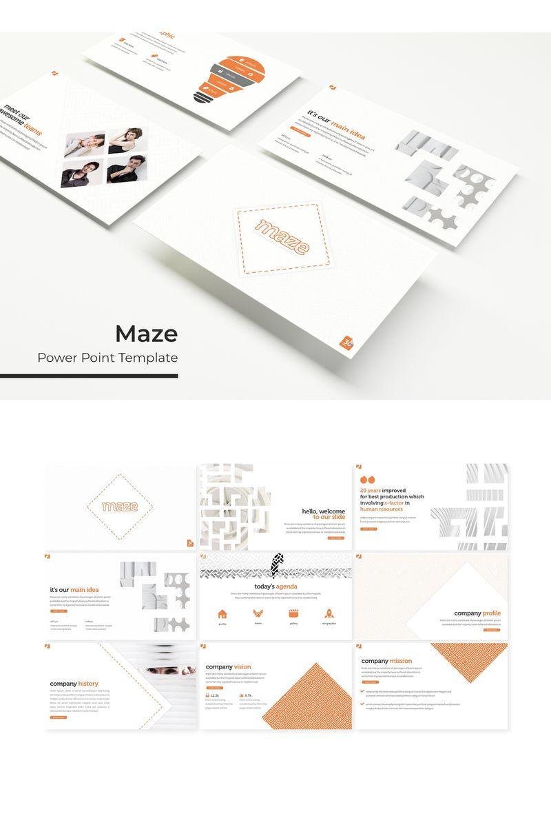 """Maze"" PowerPoint Template №96163"