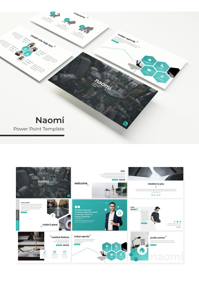 """Naomi"" PowerPoint Template №96162"