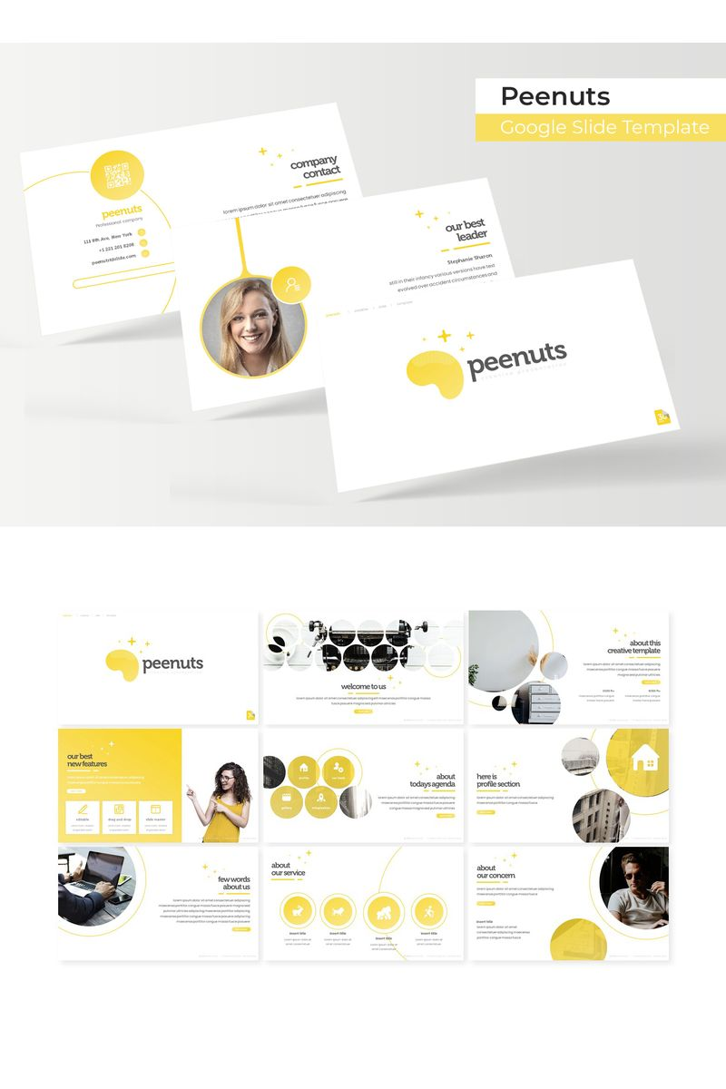 """""""Peenuts"""" Google Slides №96171"""