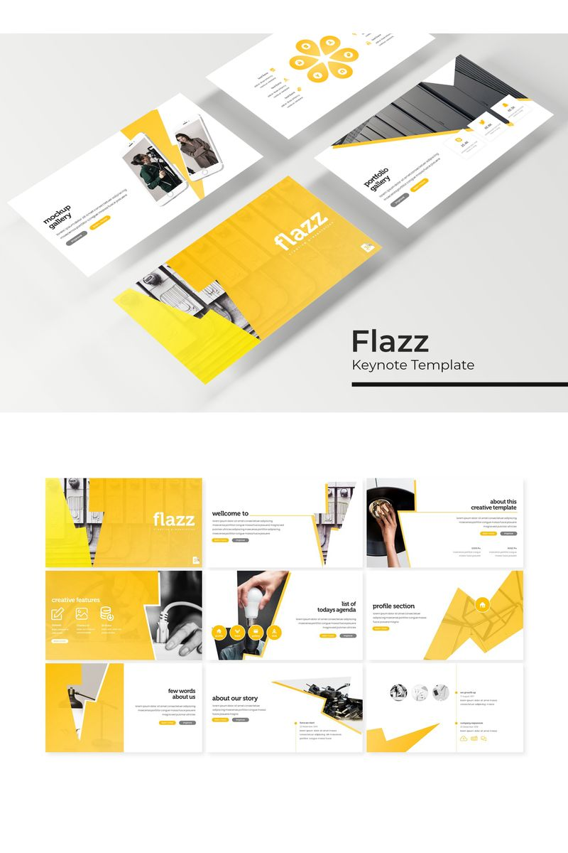 """Plantilla Keynote """"Flazz"""" #96197"""