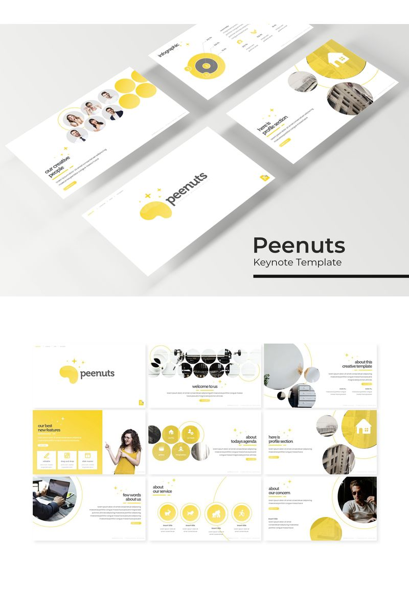 "Template Keynote #96190 ""Peenuts"""