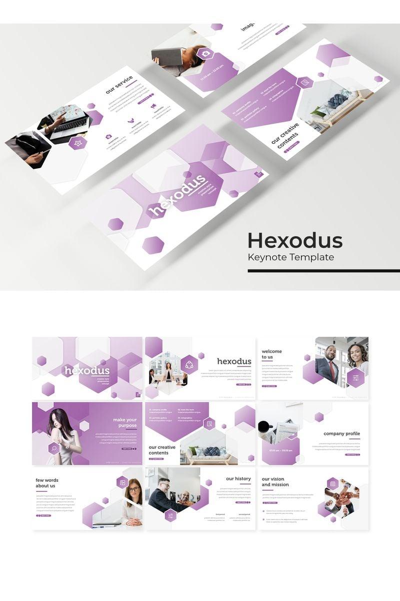 """Template Keynote #96196 """"Hexodus"""""""