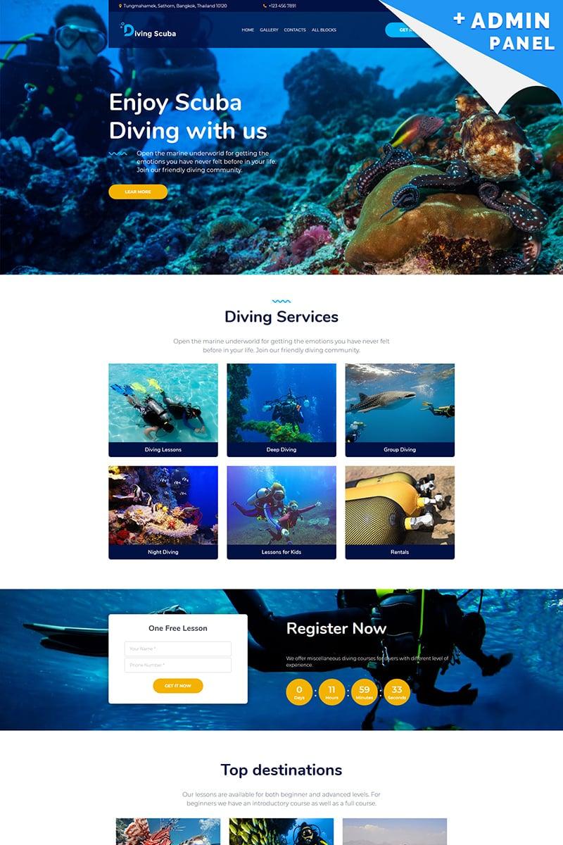 """Diving Scuba - Underwater"" - Шаблон цільової сторінки №96285"