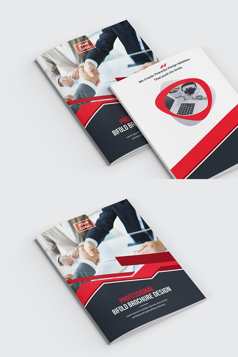 Geometric Bifold Brochure Corporate Identity Template