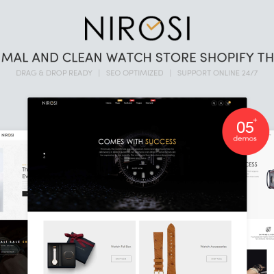 Nirosi -  Minimal & Clean Watch Store Shopify Theme #96290