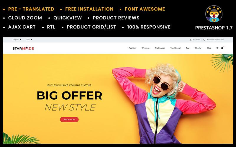 Reszponzív Starmode Accessories Store PrestaShop sablon 96292