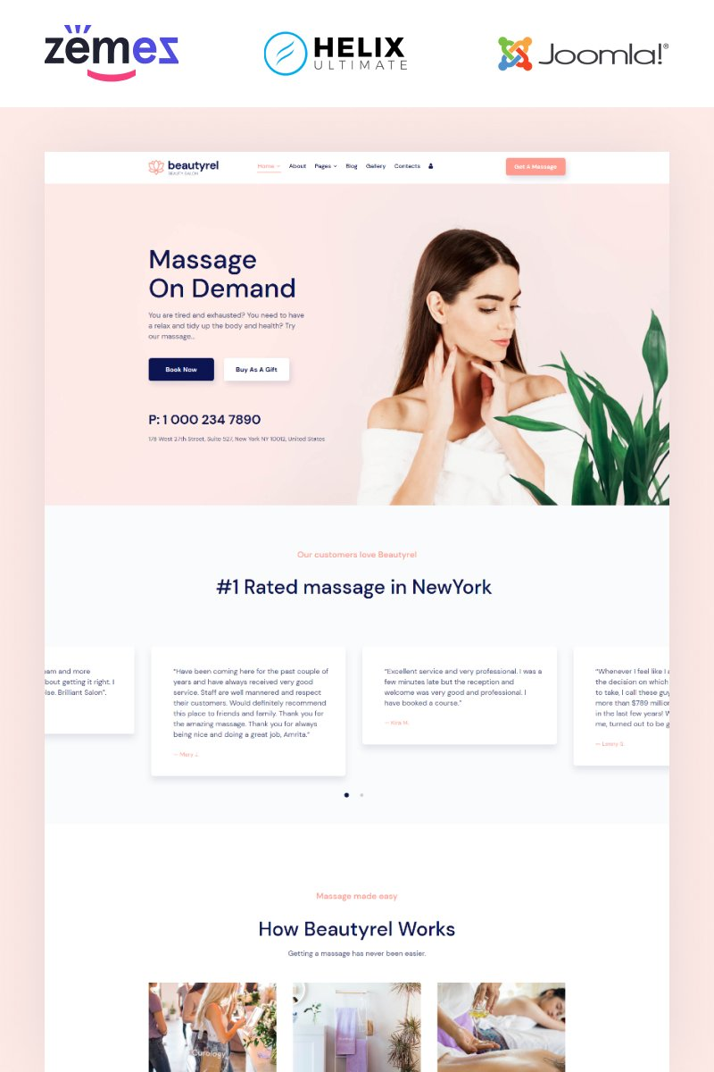 "Template Joomla Responsive #96295 ""Beautyrel - Beauty Salon"" - screenshot"