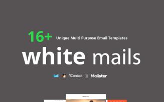 White Mails - 16+ Unique Multi Purpose Newsletter Template