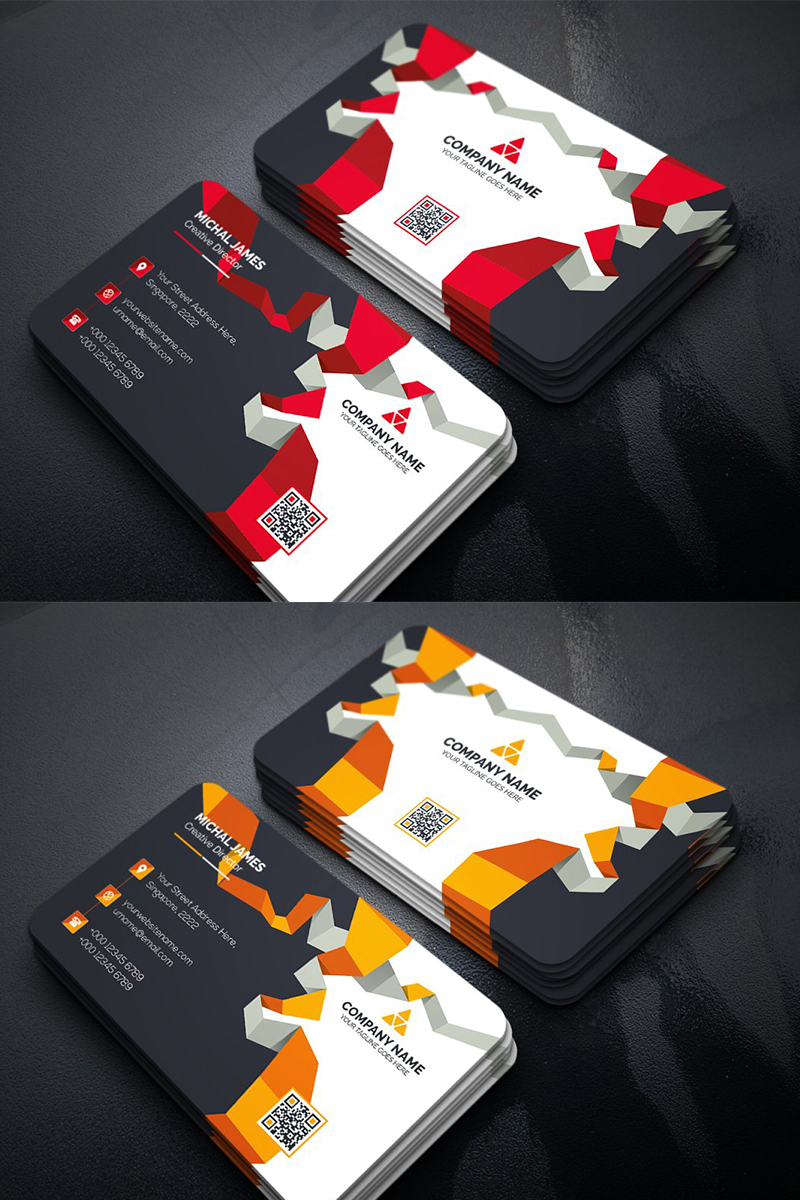 Abstract Business Card Corporate identity-mall #96324