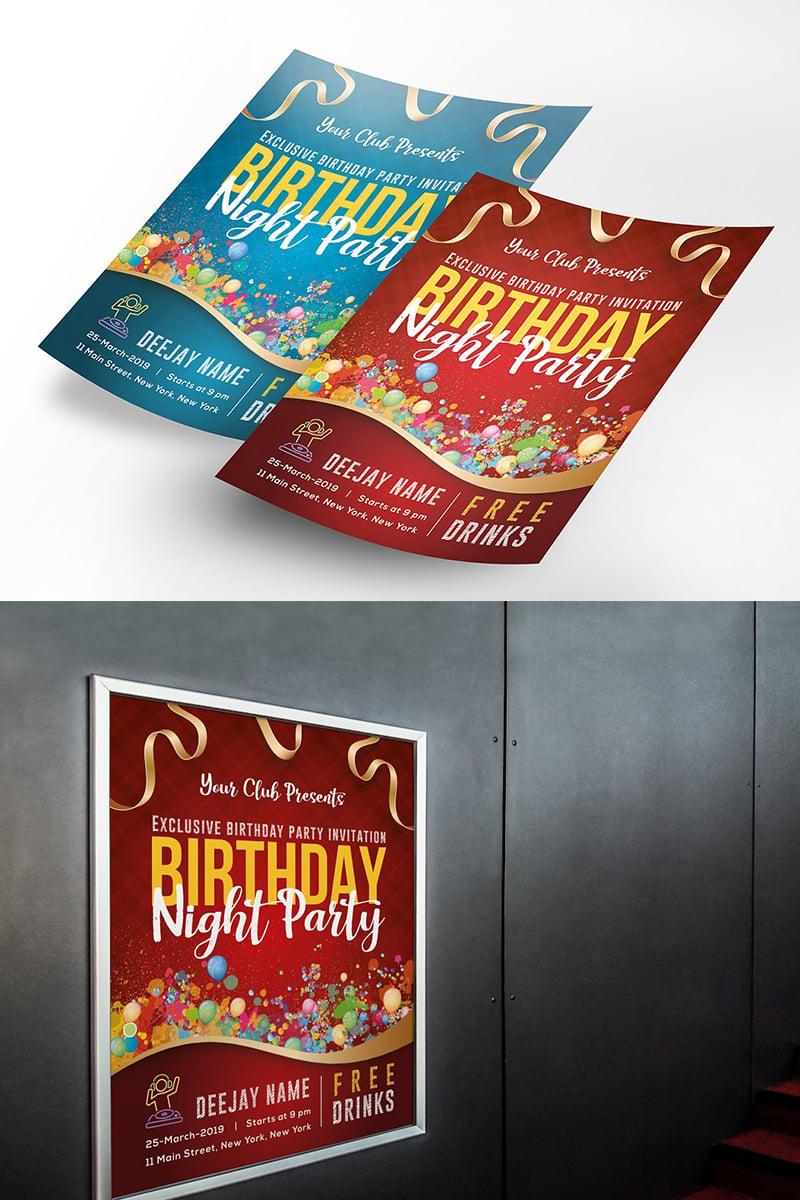 """Birthday Party Flyer Poster"" design d'Entreprise  #96325"