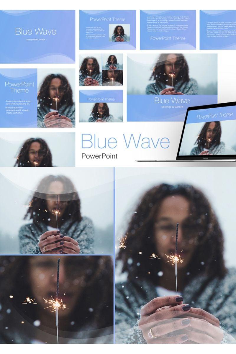 Blue Wave PowerPointmall #96357