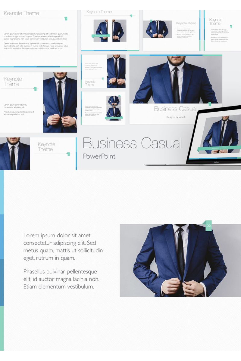 Business Casual PowerPointmall #96353