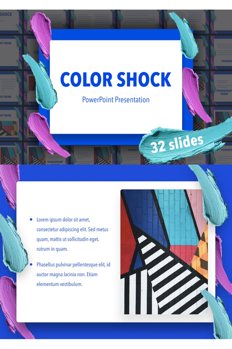 Color Shock PowerPoint Template